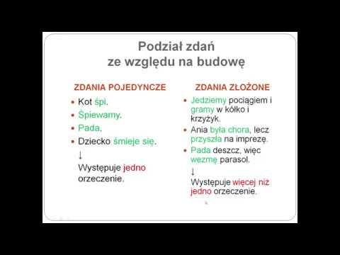 23. Zdanie a równoważnik zdania - YouTube