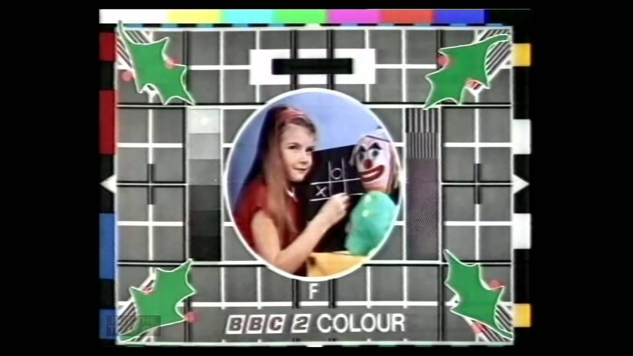 BBC2 Colour Christmas Test Card And Music 25121980