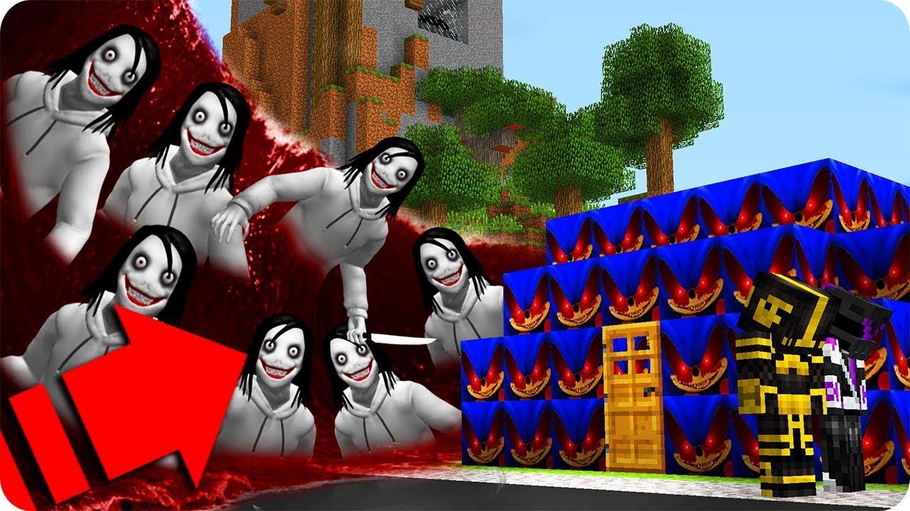 Jeff The Killerexe Roblox - Casa De Sonicexe Vs Tsunami De Jeff The Killer En Minecraft