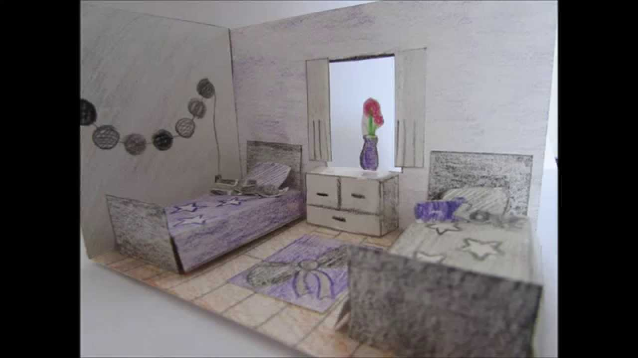 Creation d 39 une chambre en 3d en papier youtube - Description d une chambre en anglais ...