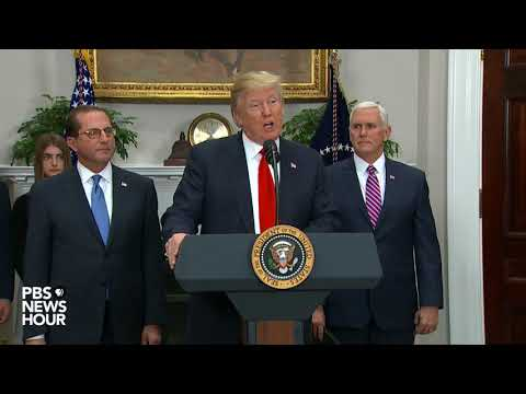WATCH: President Trump swears in Alex Azar as HHS secretary