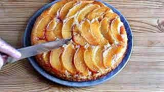 Ароматный Безумно Вкусный Пирог с Персиками/Пирог-Перевертыш с Персиками/Простой Рецепт