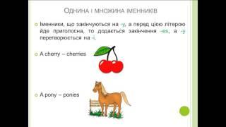 Урок 2. Однина і множина іменників в англійській мові. Правила написання