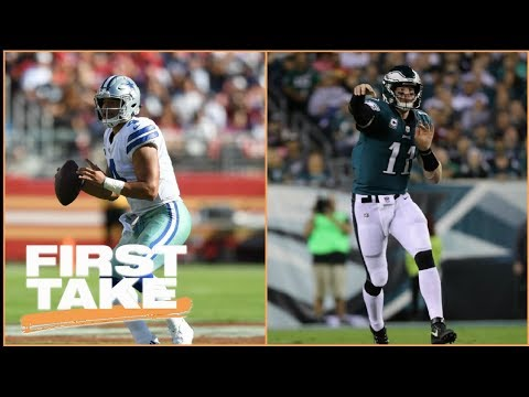 Dak Prescott or Carson Wentz: First Take debates which QB they'd rather have | First Take | ESPN
