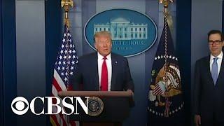Trump and Biden respond to positive jobs report as coronavirus cases rise