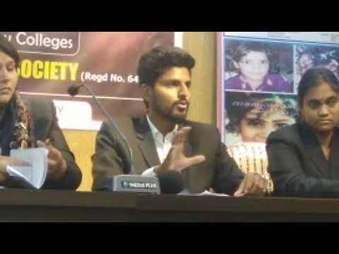 Media Conference by Law Students Rep : Hyderabad Social Welfare Society