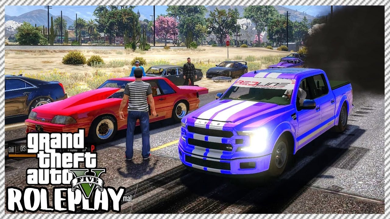 Gta  Roleplay Huge Drag Car Event Competition Ep  Civ