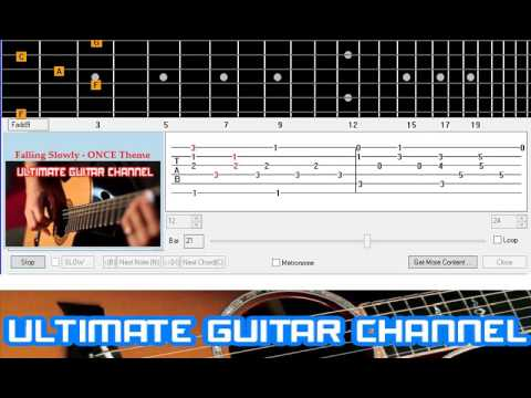 Guitar Solo Tab] Falling Slowly - ONCE Theme (BASIC) - YouTube