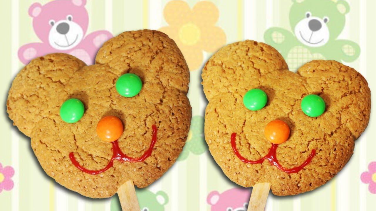 Cute Teddy Bear Cookie Pops - YouTube