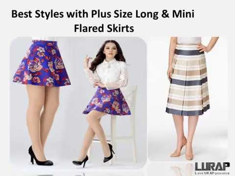 Best Styles With Plus Size Long & Mini Flared Skirts