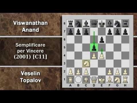 Partite Commentate di Scacchi 51- Topalov vs Anand - Semplificare per Vincere - 2001 [C11]