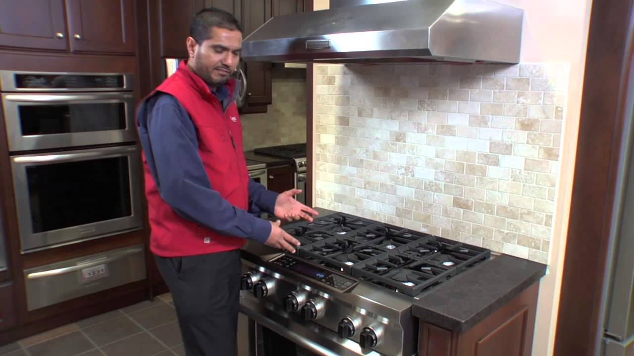 kitchen aid range sink strainer basket kitchenaid 36 pro style duel fuel oven at caplan s appliances youtube