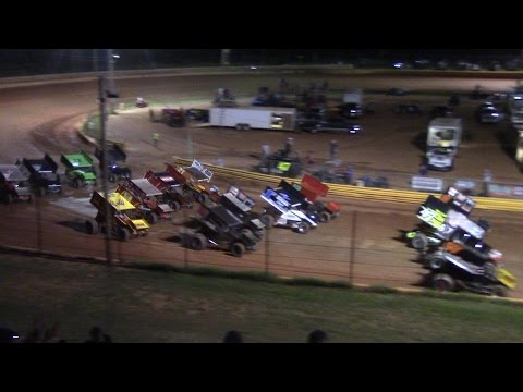 Lavonia Motor Speedway USCS Sprint Car Rollover 9/2/16