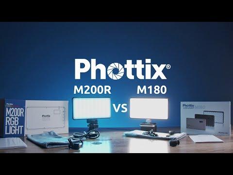 Phottix M180 vs Phottix M200R RGB Porównanie niewielkich lamp LED do vlogów, fotografii i video