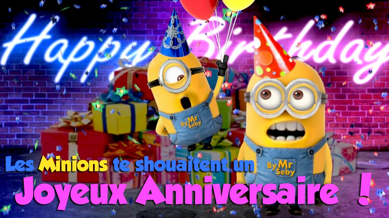 les minions te souhaitent un joyeux anniversaire 2 youtube. Black Bedroom Furniture Sets. Home Design Ideas