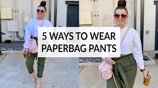 5 WAYS TO STYLE PAPERBAG PANTS | THE RULE OF 5 | JULIA MARIE B