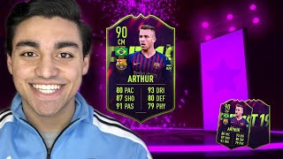 FUTURE STAR ARTHUR PLAYER REVIEW! | FIFA 19 ULTIMATE TEAM