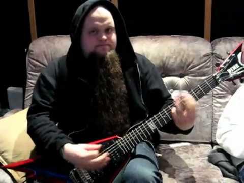 Juhani recording a scratch track for 'Felix Culpa'