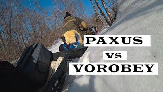 Мотобуксировщик PAXUS | Штурм горы Воробей