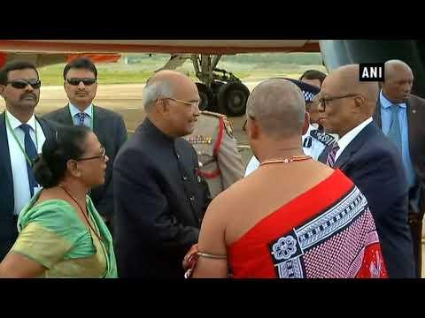 President Kovind arrives in Swaziland