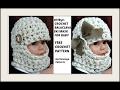 HOW TO CROCHET  a beanie or balaclava ski mask, Baby Hat, Newborn - 6 months