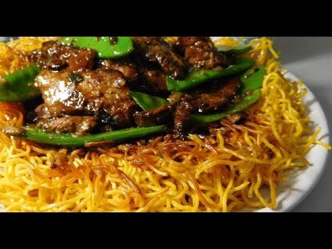 Cantonese Beef With Crispy Noodles Youtube