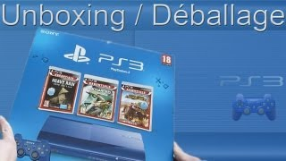 PS3 Ultra Slim Blue Limited Edition - 500GO : Déballage/Unboxing