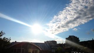 Strange jet sounds in the sky over Iasi, Romania