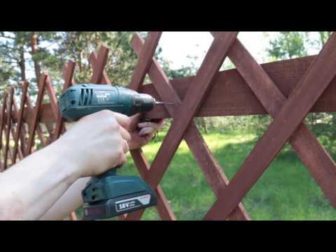 Ограждение, забор быстровозводимый, декоративные решетки.