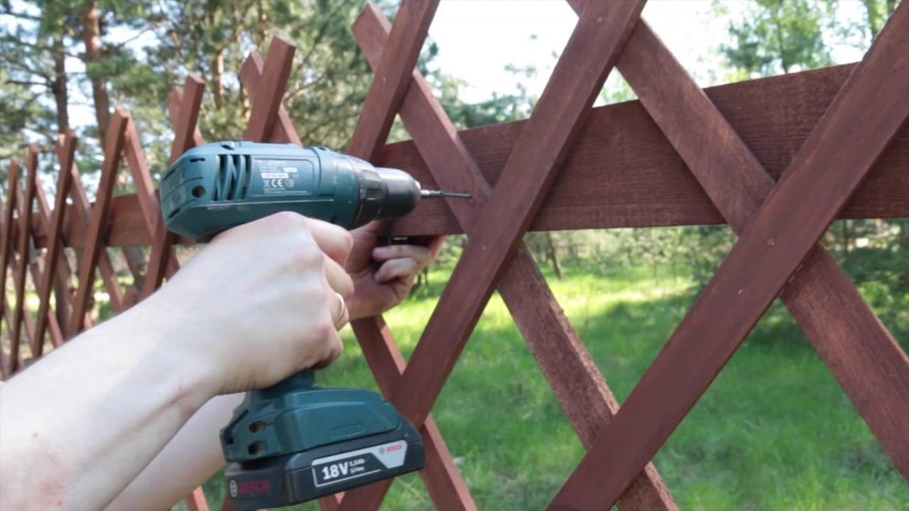 Забор решеткой своими руками фото 618