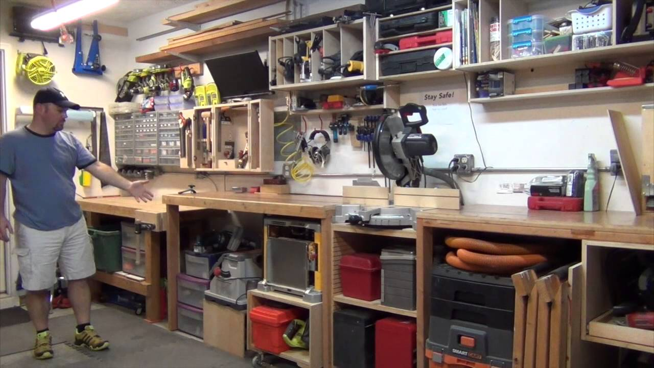 Single Car Garage Woodworking Shop Layout