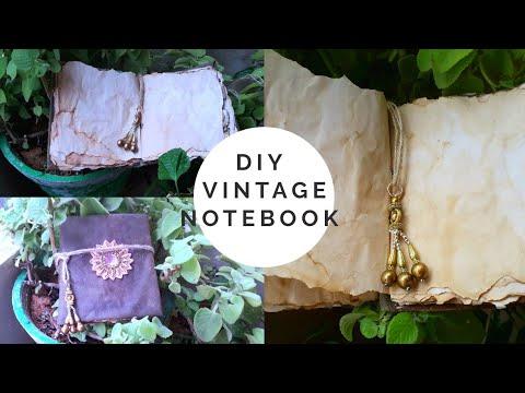 #diy vintage journal#vintage notebook# best out of waste#