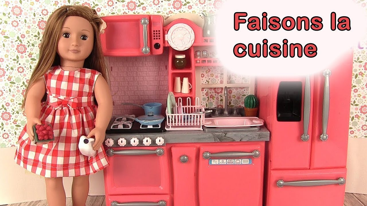 Cuisine pour poup e our generation kitchen set jouets for Kitchen set photo