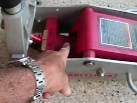 Floor jack repair Sears Craftsman 50240 by froggy