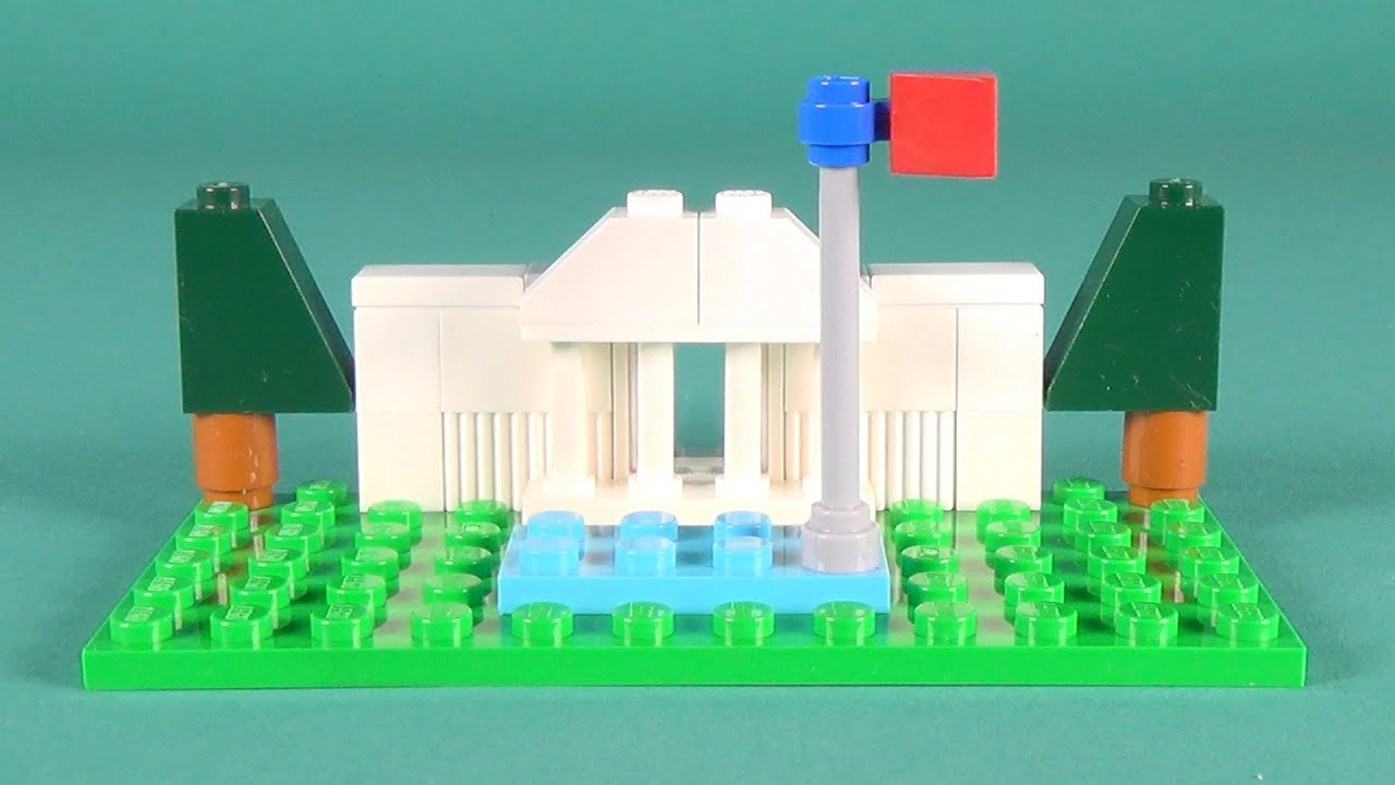 Lego mini white house building instructions lego classic for Lego classic house instructions