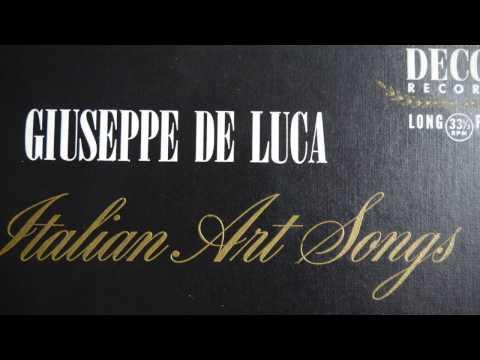 ITALIAN ART SONGS – GIUSEPPE DE LUCA (195?)  Decca Gold Label DL 7505