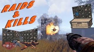 Solo Rocket & Satchel Raids | Rust Solo Survival - Cold Blooded: Part 4