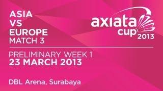 Round 1 - XD - Zheng B. /A.Ponnappa (ASIA) vs N.Robertson /J.Wallwork (EUR) - Axiata Cup 2013