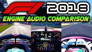 F1 2018 Gameplay: Engine Audio Comparison - Ferrari/Renault/Mercedes (F1 2018 Game Direct Capture)