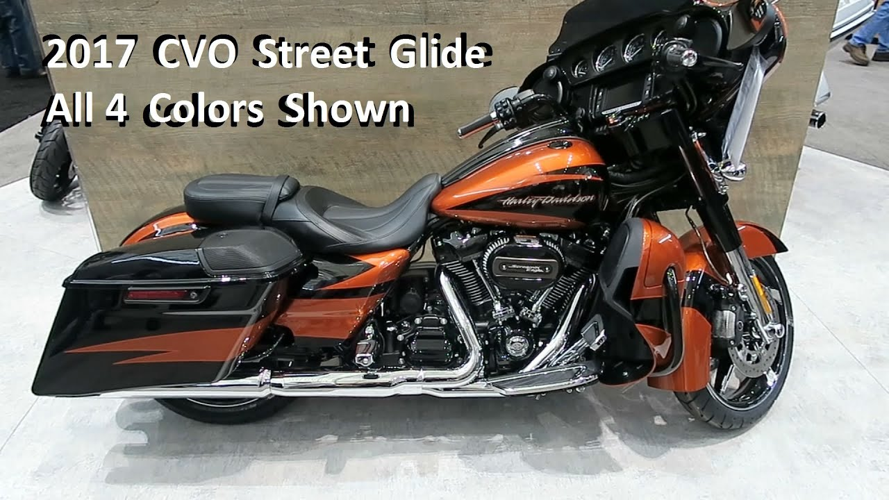 2017 cvo street glide harley-davidson │colors and description