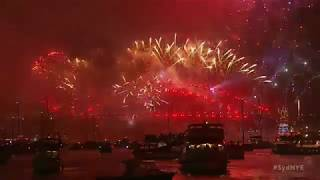 Sydney Australia and Tokyo Japan Grand Welcome 2018 Great Fire Work Capture