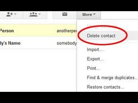 How To Delete Contacts In Gmail