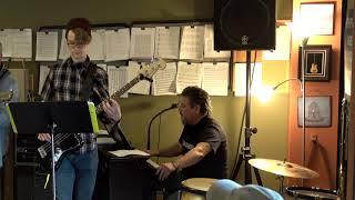 Nic Steve Bob and John Performing Statesboro Blues Main Street Music and Art Studio
