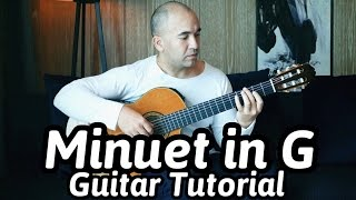 "Guitar Lesson ""Minuet In G"" C. Petzold -Classical Guitar Tutorial Note-By-Note+Free Tabs&Full Score"