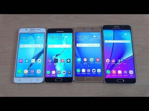 Samsung Galaxy C5 vs A5 2016 vs J5 2016 vs Note 5 - Gaming Comparison!