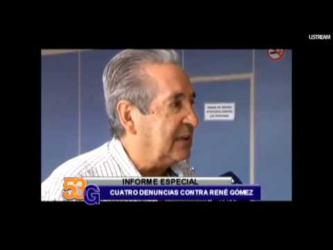 Cuatro denuncias contra René Gómez