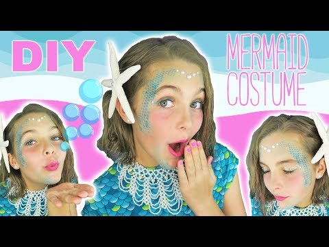 Easy DIY Halloween Costume Mermaid Makeup Tutorial For Kids | Kids Cooking and Crafts