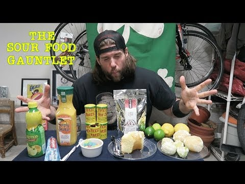 The Sour Food Gauntlet Challenge Doesn't Go As Planned | L.A. BEAST