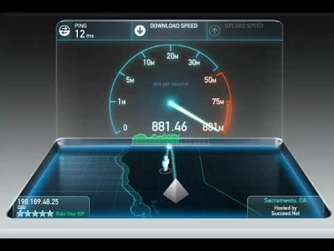Google Fiber Speed Test!! - YouTube