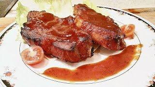 Свинина (баранина, курица) запеченная в духовке по-канадски.